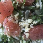bulgursalade met grapefruit campingproof recept
