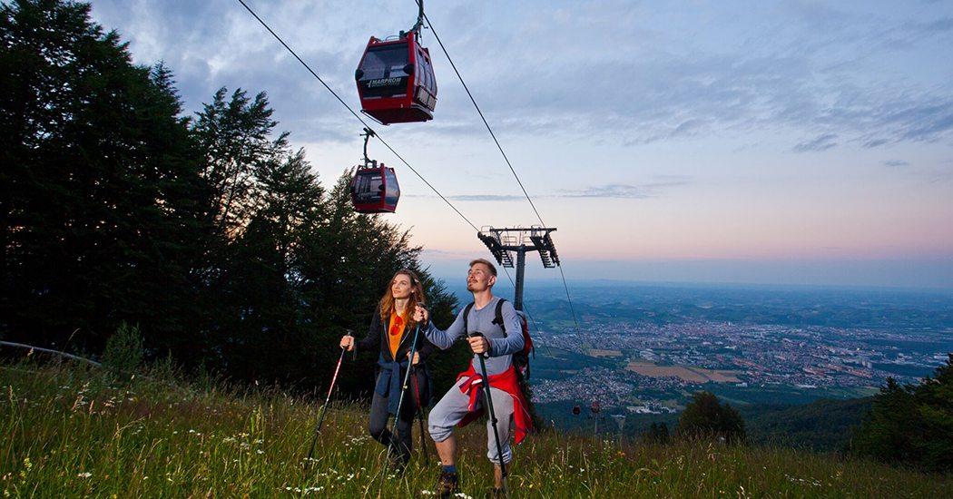 Kabelbaan Pohorje Mahibor Slovenië