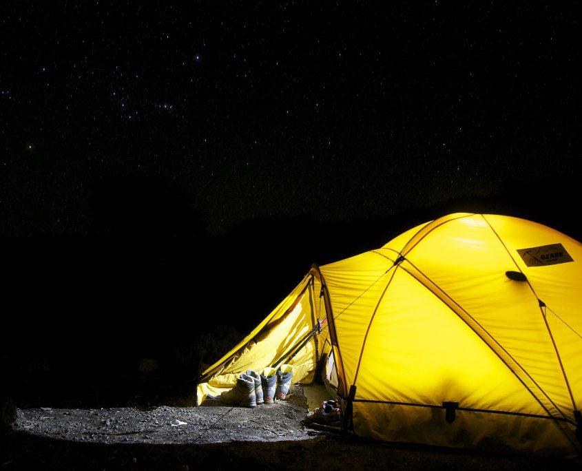 Thuis kamperen
